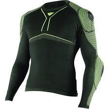 Dainese D Core Armor Long Sleeve Shirt Black Fluorescent Yellow