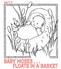 Daniel And The Lions Den Coloring Page Beautiful Baby Moses Coloring