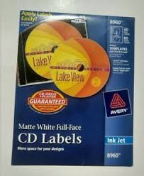 Avery Cd Labels Details About New Sealed Avery Inkjet Full Face Cd Labels Matte White 40 Pack 8960