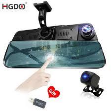 <b>HGDO</b> 10 inch <b>Dash cam</b> Touch screen Car dvr Dual Lens Full HD ...