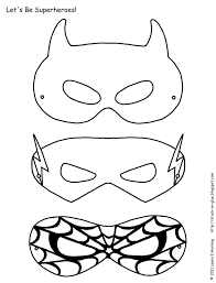 Super Masks Kleurplaten Superheld Maskers Superhelden En Maskers