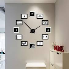 2019 12 photo frames wall clock modern