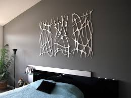 image of simple contemporary metal wall art decor