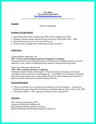 Chemical Engineering Internship Resume Samples Resume For Study