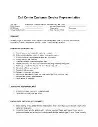 Objective For Customer Service Representative Resume Luxury Call