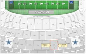 Dallas Cowboys Seating Chart With Rows Dallas Cowboys At T Stadium Seating Chart Interactive Map
