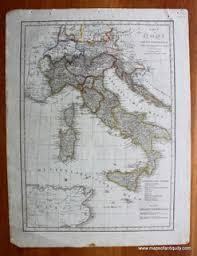 Karte Von Italien Antique Maps And Charts Original