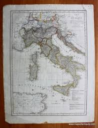 Charts Italien Karte Von Italien Antique Maps And Charts Original