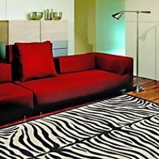 Zebra Living Room Hot Combination Of Red Sofa Set And Black And White Zebra Rug