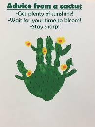 Preschool Handprint Cactus Preschool 2 Classroom Crafts