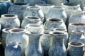 large ceramic garden pots stock photo image of stacked planters glazed terracotta urns plant
