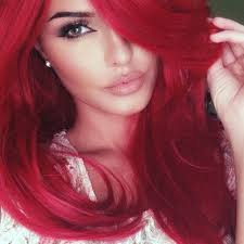 red hair and a nice makeup