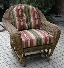 long island outdoor wicker chair glider
