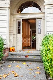 Open front door Wheelchair Accessible Front Path Steps And Open Front Door With Fall Leaves And Jackolantern Diy Network Front Path Steps And Open Front Door With Fall Leaves And Jacko