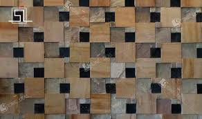 stone mosaic tiles for wall cladding and backsplash purpose gray tile stacked natural stone mosaic