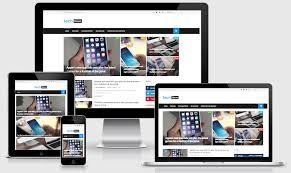 Tech News Responsive Technology Blogger Template Way