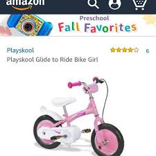 Playskool glide to ride bike girl