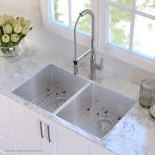 farmhouse a front sinks 50 50 double two bowl 16 gauge stainless steel kitchen