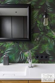 Dark Moody Tropical Leaves Wallpaper ...
