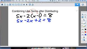 solving equations having like terms and paheses pre algebra