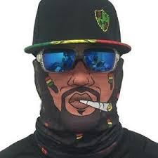 Sa Co Official Rasta Face Shield Sun Mask Balaclava Neck Gaiter