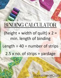 How To Machine Bind A Quilt | Blossom Heart Quilts & Quilt binding calculator maths and machine binding tutorial by  BlossomHeartQuilts.com Adamdwight.com