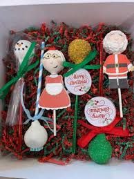 Santa Claus And Mrs Claus Chocolate Covered Cake Pops In Gift Box 6