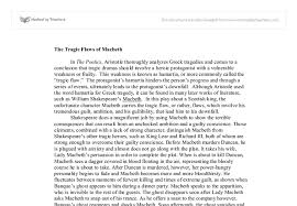 tragic flaw essay macbeth tragic hero essay