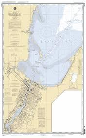 Green Bay Depth Chart Head Of Green Bay Including Fox River Below De Pere Nautical