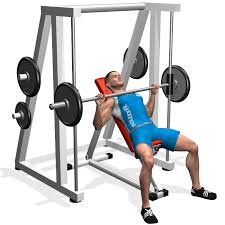 Smith Machine Wide Grip Bench Press  Exercise Database  Jefit Smith Bench Press Bar Weight