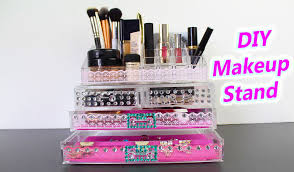 picture of diy makeup storage makeup stand and organization