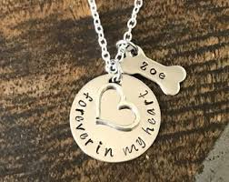 forever in my heart necklace personalized pet loss a piece of my heart lives in heaven handsted necklace dog cat pet memorial jewelry