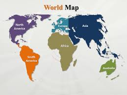 Map Of The World For Powerpoint Interactive Powerpoint World Map Outline World Map Continents