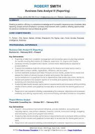 Reporting Analyst Sample Resume