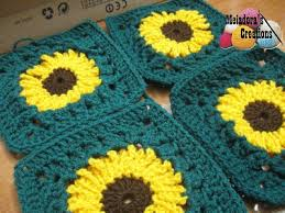 Crochet Sunflower Pattern Unique Sunflower Granny Square Free Crochet Pattern