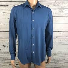 Mizzen And Main Size Chart Mizzen Main Mens Fitted Shirt Blue Micro Dots M