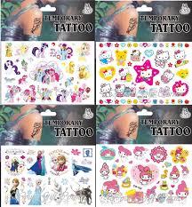 Cartoon Tattoo Girls Designkids Temporary Tattoo Nail Stickersparty Favor