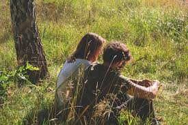 Free photo Girl Date Grass Green Boy Chill Couple People - Max Pixel