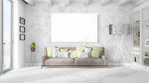 interior beautiful living room concept. Simple Interior Download Modern Bright Interior With Empty Frame  3D Rendering Stock  Illustration  Of Concept Intended Beautiful Living Room Concept S