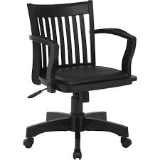 office star s deluxe wood banker s chair with arms and padded seat