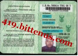 Id - License South Drivers Card Africa