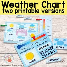 Weather Chart Printable Printable Weather Charts Easy Peasy Learners