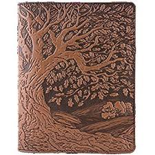genuine leather position notebook cover insert 8 25 x 10 25 inches tree of life