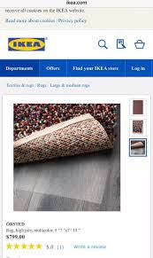 brand new ikea orsted rug for in queens ny offerup