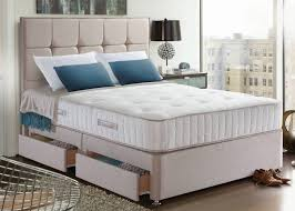 The Bed Factory White Bed Frame With Headboard Pillow Top Mattress ...