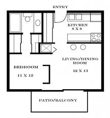 Small Apartment Floor Plans One Bedroom Floor Plan Ofone Bedroom Apartment Com Also One Plans For