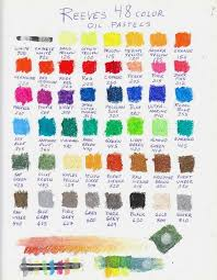 Oil Pastel Color Charts Page 13 Wetcanvas
