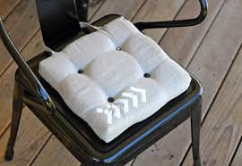 Great Tufted Outdoor Dining Chair Cushion Solid Pottery Barn