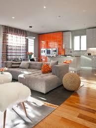 Grey And Orange Rug