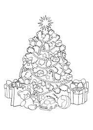 Kleurplaat Volwassenen Kerstboom